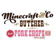 Minecraft & Co Butcher, Best Pork Chops by Tee Brain Creative