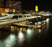 Riverside Expressway, Brisbane at Night by flash62au