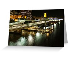 Riverside Expressway, Brisbane at Night Greeting Card