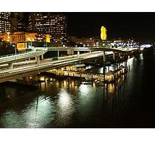 Riverside Expressway, Brisbane at Night Photographic Print