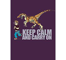 (Dino) Keep Calm and Carry On Photographic Print