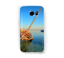 Dhow in the shallow turquoise water Samsung Galaxy Case/Skin