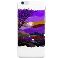 Purple landscape iPhone Case/Skin