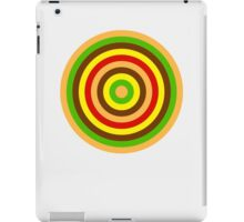 Burger dartboard iPad Case/Skin