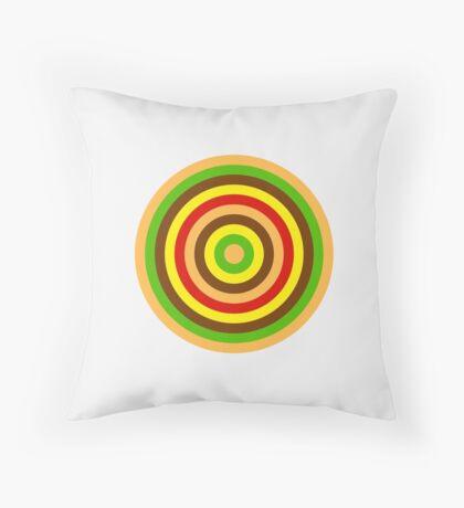 Burger dartboard Throw Pillow