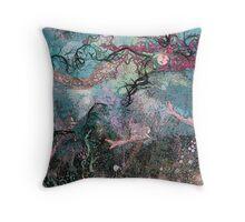 in a mermaids garden.  2 Throw Pillow