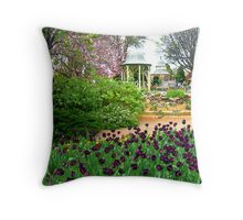 Floral Display with Rotunda, Bowral, NSW, Australia Throw Pillow