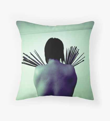 Art is like flying... Throw Pillow