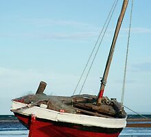Dhow in the shallow water by jacojvr