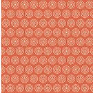 Concentric Circle Dots on Red Background by Hilda Rytteke