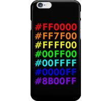 Rainbow HTML color codes iPhone Case/Skin