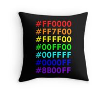 Rainbow HTML color codes Throw Pillow