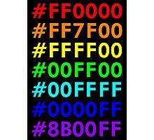 Rainbow HTML color codes Photographic Print