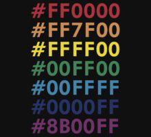 Rainbow HTML color codes Kids Clothes