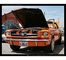 .. orange stanger banger .. Photographic Print