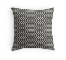 Black Chain Link Pattern Throw Pillow