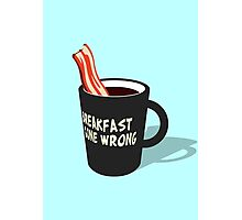 Breakfast gone wrong Photographic Print