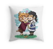 Watching their trees growing, together. Throw Pillow