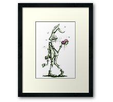 Bugs Zombunny (green) Framed Print