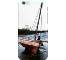 Dhow in the shallow water iPhone Case/Skin