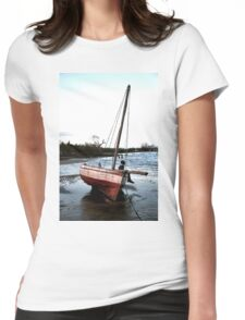 Dhow in the shallow water Womens Fitted T-Shirt