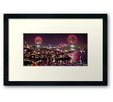 Sydney NYE Fireworks Framed Print
