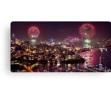 Sydney NYE Fireworks Canvas Print