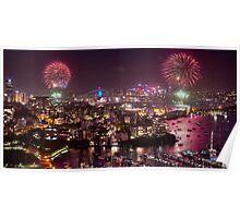 Sydney NYE Fireworks Poster