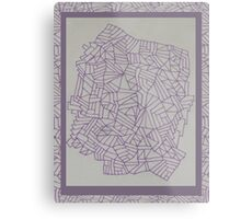 Purple Lined Landscape Metal Print