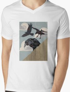 Crow invasion Mens V-Neck T-Shirt