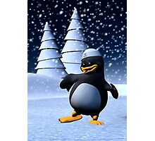 Dancing Penguin Photographic Print