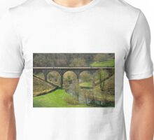 Cyclists on the Headstone Viaduct Unisex T-Shirt