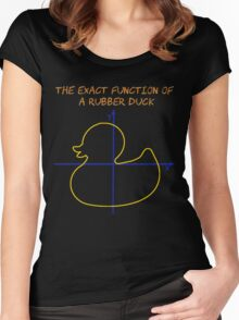 Harry Potter The exact function of  a rubber duck Women's Fitted Scoop T-Shirt
