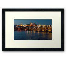 Evening in Prague Framed Print