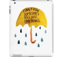 "HIMYM: ""Funny how"" iPad Case/Skin"