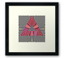 Circles and triangles Framed Print