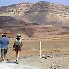 Hiking in the desert by Moshe Cohen