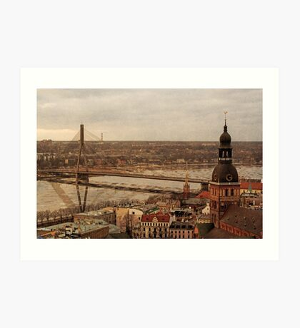 Riga from above Art Print