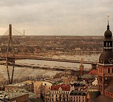 Riga from above by ivetas