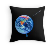 Earth goes boom! Throw Pillow