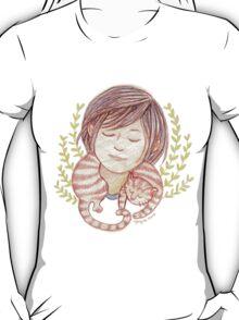 Sleeping Marmalade Tabby T-Shirt