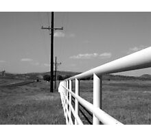 Endless fence Photographic Print