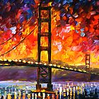 GOLDEN GATE BRIDGE limited edition giclee of L.AFREMOV painting by LeonidAfremov