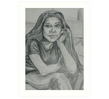 Portrait of a Girl (Drawing)- Art Print