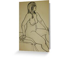 Proud Female Nude (Ink)- Greeting Card