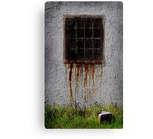 Rusty window Canvas Print
