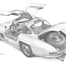 Mercedes Benz 300SL Gullwing by Steve Pearcy