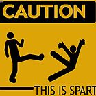 Sparta Warning sign by SomeLoser