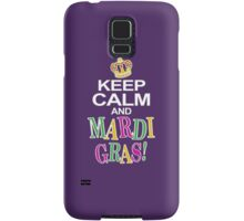 Keep Calm and Mardi Gras Samsung Galaxy Case/Skin