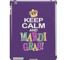 Keep Calm and Mardi Gras iPad Case/Skin